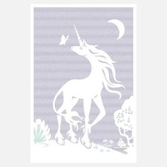 The Last Unicorn 24x36, $23, now featured on Fab.