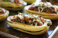 Stuffed Delicata Squash with Chicken Sausage-Mushroom Stuffing | Skinnytaste