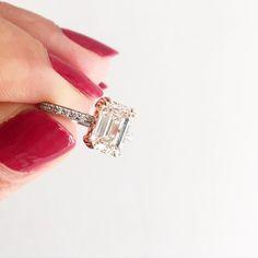 Emerald cut White Diamond Ring #solitaire #diamond