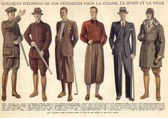 "Random info I just learned & found interesting, ""Plus-fours are breeches or trousers that extend 4"" below the knee (& thus four inches longer than traditional knickerbockers, hence the name). As they allow more freedom of movement than knickerbockers, they have been traditionally associated with sporting attire from the 1860s and onward (""an ""extravagant, careless style that fit right in with the looser fashions and lifestyles of the 1920s...)"