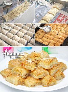 Gazete Tatlısı Tarifi Chocolate Pastry, Chocolate Desserts, Cake Recipe Using Buttermilk, Cake Recipes, Dessert Recipes, Turkish Sweets, Sweet Pastries, Iftar, Turkish Recipes