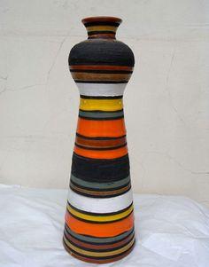 Bitossi-Sottsass-Vase-Italy-Original-50s-Aldo-Londi-Era-Raymor
