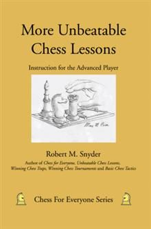 In More Unbeatable Chess Lessons, chess coach Robert Snyder takes his Unbeatable Chess Lessons book a step further by covering twenty-four additional games with commentary on every move in each game.