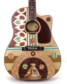 Beautiful Acoustic Electric Guitar