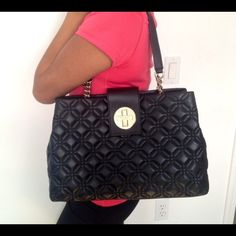 Kate spade-Elena Kate Spade Elena Astor Court bag! Get the luxurious Kate spade look for less! Amazing and timeless quilted black leather with metal hardware. Worn very gently, this purse was never really my style. Perfect as everyday bag. Has two VERY MINOR scuffs on the back as shown in pics above. Great organization inside! Classic Kate Spade! Comes with dust bag and original general care card. Taking offers  kate spade Bags Totes