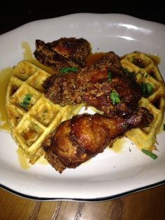 #tavern chicken and waffles