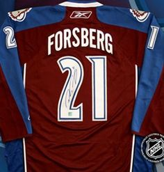 Peter Forsberg Signed Colorado Avalanche Burgundy Reebok Premier Jersey  with COA by Autograph-Sports  4941d1f73