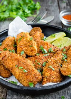 The kids will love this Skinny Oven Fried Chicken for dinner!