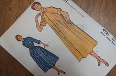 Vintage 1950s Duster or Shirtwaist Dress Pattern by strangenotions, $12.95