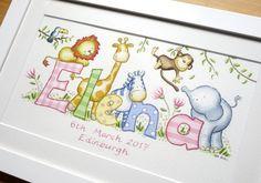 Girl nursery art, name picture, alphabet print Baby Room Paintings, Name Paintings, Painting Of Girl, Baby Nursery Art, Baby Wall Art, Nursery Prints, Nursery Drawings, Name Drawings, Drawing Books For Kids