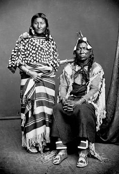 Crow Chief Iron Bull and wife 1873
