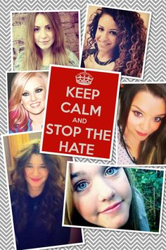 Please, the hate needs to stop. It's getting pretty ridiculous. You have no right to judge them. What have they ever done to you? There is NO reason for you to hate them. How would you feel if you were in their place? They are doing nothing wrong!!! You don't even know them!!! It is not your place to judge. So just calm down. They are real people with real feelings. So think before you hate.