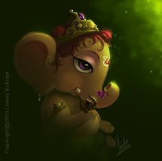 Such a cute baby Lord Ganesha. Elephant Love, Elephant Tattoos, Baby Krishna, Baby Ganesha, Shri Ganesh Images, Ganesh Chaturthi Images, Indian Art, Illustration Art, Art
