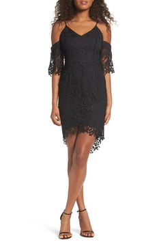 Krista Cold Shoulder Lace Sheath Dress