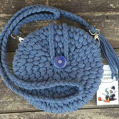 """Нет в наличии  Цвет """"Синий Джинс"""",Цена 1500₽ Возможен повтор в другом цвете #вяжудляВас #моимируками #текстильнаяпряжа #вяжукрючком #сумкикрючком #anastasia_lyapina"""