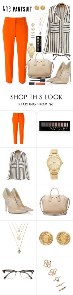"""""""Sem título #257"""" by yozinha ❤ liked on Polyvore featuring STELLA McCARTNEY, Forever 21, Michael Kors, Jimmy Choo, Givenchy, Versace, Ray-Ban, Christian Dior and thepantsuit"""