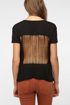 Truly Madly Deeply Slash-Back Tee - i'd wear something under there personally, but yeah, i like this!