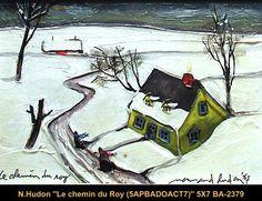 Original mixed media painting by Normand Hudon. Available at Le Balcon d'Art, St-Lambert Qc Canada New BOOK available November 9 2014 #hudon #art #caricaturist #cottage #winterscene #mixedmedia #canadianartist #quebecartist #originalpainting # #balcondart #multiartltee
