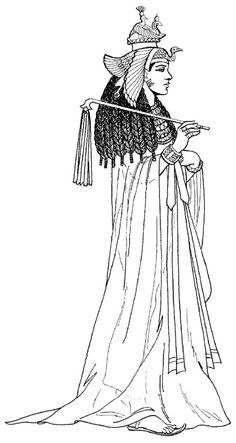 одежда царицы Древнего Египта периода Нового царства