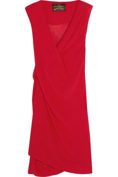 Red crinkled-georgette Slips on 100% viscose Dry clean