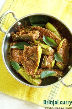 Brinjal curry-vankaya podi kura --- easy brinjal curry with a special homemade spice mixture.