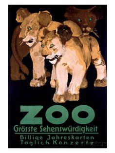 Zoo Grosste Schenswurdigkeit Giclee Print at AllPosters.com