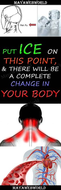 Put Ice On This Point, And There Will Be a Complete Change in Your Body – MayaWebWorld