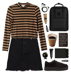 """In a different world"" by tania-maria ❤ liked on Polyvore featuring Monki, Fjällräven, Rich and Damned, H&M, Sennheiser, Aesop, Surya and Forever 21"