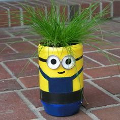 The Minion - Old Bottles, New Buddies: Cute Upcycled Planters for Kids | eHow
