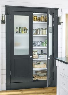 Etched Glass Pantry Doorcountryliving