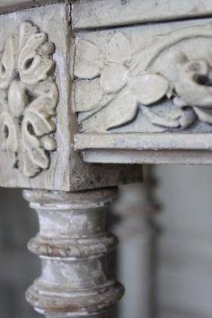 Carved Furniture Detail   La Maison Gray