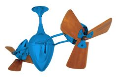 Matthews Fan Co. Ar Ruthiane Wood (Damp Rated) MG-AR-LTBLUE-WD - Airflow Rating:  6174 CFM (Cubic Feet Per Minute) Contemporary Ceiling Fans, Cubic Foot, Wood, Unique, Accessories, Design, Woodwind Instrument, Timber Wood