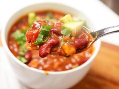 The Best Vegetarian Bean Chili #recipe #superbowl