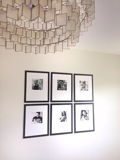 Abby M. Interiors - You can't go wrong with a classic black & white #gallery wall. (I've been thinking about adding an 'offset' version like this... Otherwise, I'd recommend a Square – so you can rotate the frame when you switch to a new photo that's not horizontal.)