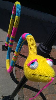 Yarn Bomb Bicycle Rack Pattern by OyPlushies on Etsy, $5.00