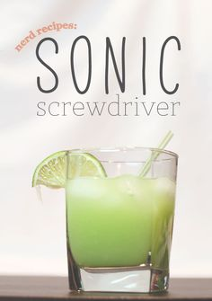 "Being Geek Chic • Nerd Recipes: A Sonic ""Screwdriver"" (video)"