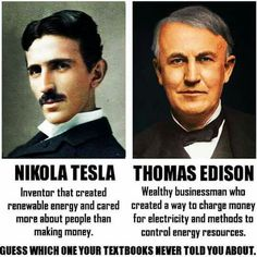 Edison stole concepts & ideas from other inventors...even on my historical crushes, Tesla. Tesla is an INTJ.