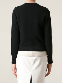 Moncler feather down front cardigan