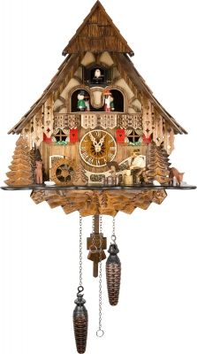 Original Black Forest Clock: Order Cuckoo Clock Quartz-movement Chalet-Style by Engstler ( for USD at the Cuckoo-Palace. Coo Coo Clock, White Flower Farm, Chalet Style, Cool Clocks, As Time Goes By, Black Forest, Cool Toys, Cool Art, Quartz