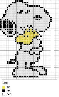 Snoopy e Woodstock Beaded Cross Stitch, Cross Stitch Embroidery, Beaded Snoopy, Cross Stitch Designs, Cross Stitch Patterns, Pixel Crochet, Stitch Cartoon, Pixel Pattern, Tapestry Crochet