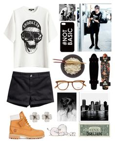 """""""Airport with your love"""" by lestielucci5sos ❤ liked on Polyvore featuring H&M, Disney, Timberland, Garrett Leight, Zero Gravity and Pacific Coast"""