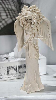 Moja pracownia: Jak zrobić stojącego Anioła z masy solnej?