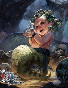 """""""Baby Bestiary"""" — это книга Андреаса Уолтерса о том, как выглядят всем известные чудовища, когда они маленькие. Как появляются на свет грифонята, совомедвежата и котята химеры."""