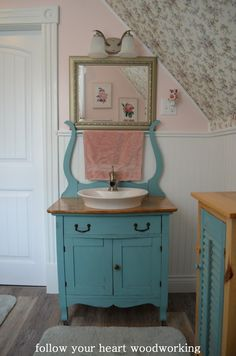 follow your heart woodworking: Bathroom Renovation - Part 5 - The Commode Turned into a Vanity