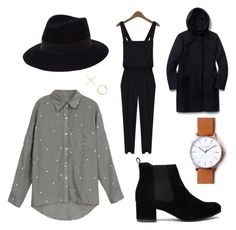 """""""New beginnings"""" by undercoverfashionspy ❤ liked on Polyvore featuring Truffle, Maison Michel, xO Design and aritzia"""