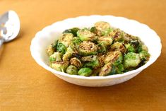 Brussels Sprouts with toasted Breadcrumbs, Parmesan and lemon