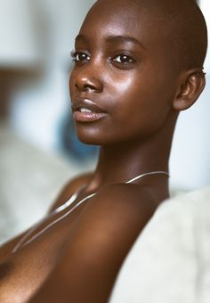 bald black girl, shaved head, shaved hair, bald girl