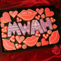 Personalised Kisses Cookie Gift Box. Wouldn't this be cute surrounded by hershey's kisses?