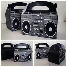 Inflatable Mini Boom Box Fancy Dress Prop Small Stereo Carry Hp Hop 80/'s DMC