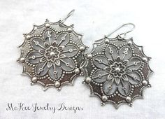 Jewelry Diamond : Silver earrings every day filigree boho jewelry McKee Jewelry Designs